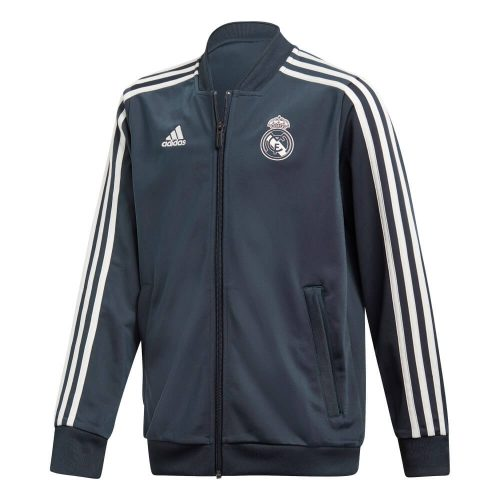 adidas Real Madrid Trainingsjack 2018-2019 Kids Tech Onix White