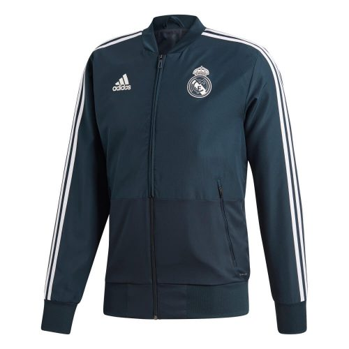 adidas Real Madrid Presentatie Trainingsjack 2018-2019 Tech Onix Black Cream White