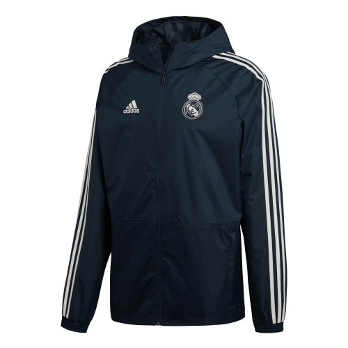 adidas Real Madrid Regenjas 2018-2019 Tech Onix White