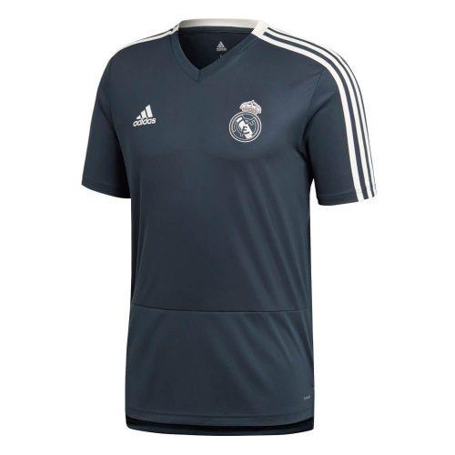 adidas Real Madrid Trainingsshirt 2018-2019 Tech Onix Black Cream White