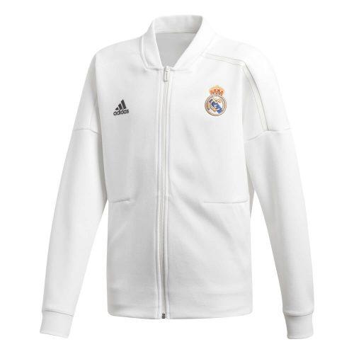 adidas Real Madrid Z.N.E. Trainingsjack 2018-2019 Kids Cream White Black
