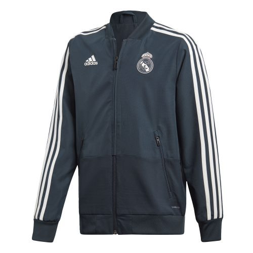 adidas Real Madrid Presentatie Trainingsjack 2018-2019 Kids Tech Onix Black Cream White