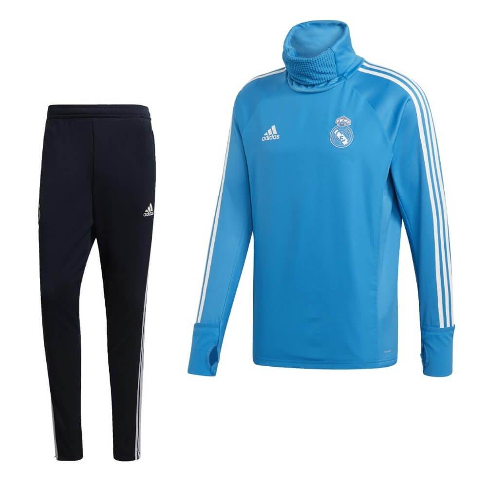 adidas Real Madrid ClimaWarm Trainingspak 2018-2019 Lichtblauw Royal