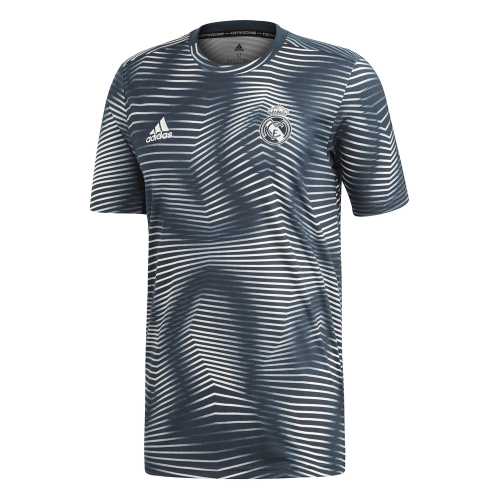 adidas Real Madrid Pre Match Trainingsshirt 2018-2019 Grijs Blauw