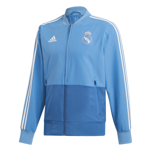 adidas Real Madrid Presentatie Trainingsjack 2018-2019 Blue Dark Royal Cream White