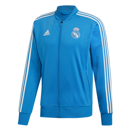 adidas Real Madrid Trainingsjack 2018-2019 Blue Dark Royal Cream White