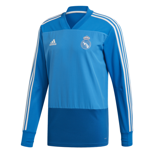 adidas Real Madrid Trainingstrui 2018-2019 Blue Dark Royal Cream White