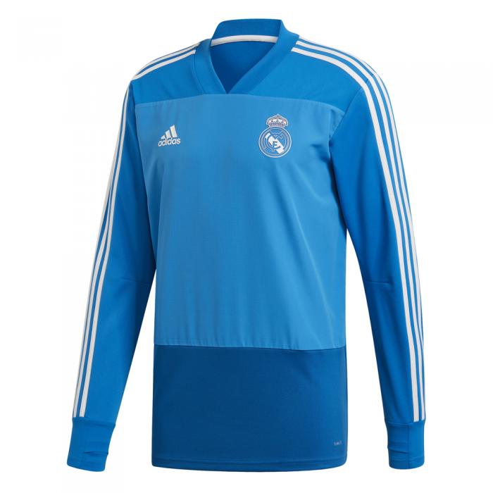 adidas Real Madrid Trainingstrui 2018-2019 Blue Dark Royal Cream White
