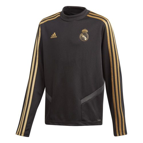 adidas Real Madrid Trainingstrui 2019-2020 Kids Zwart Goud