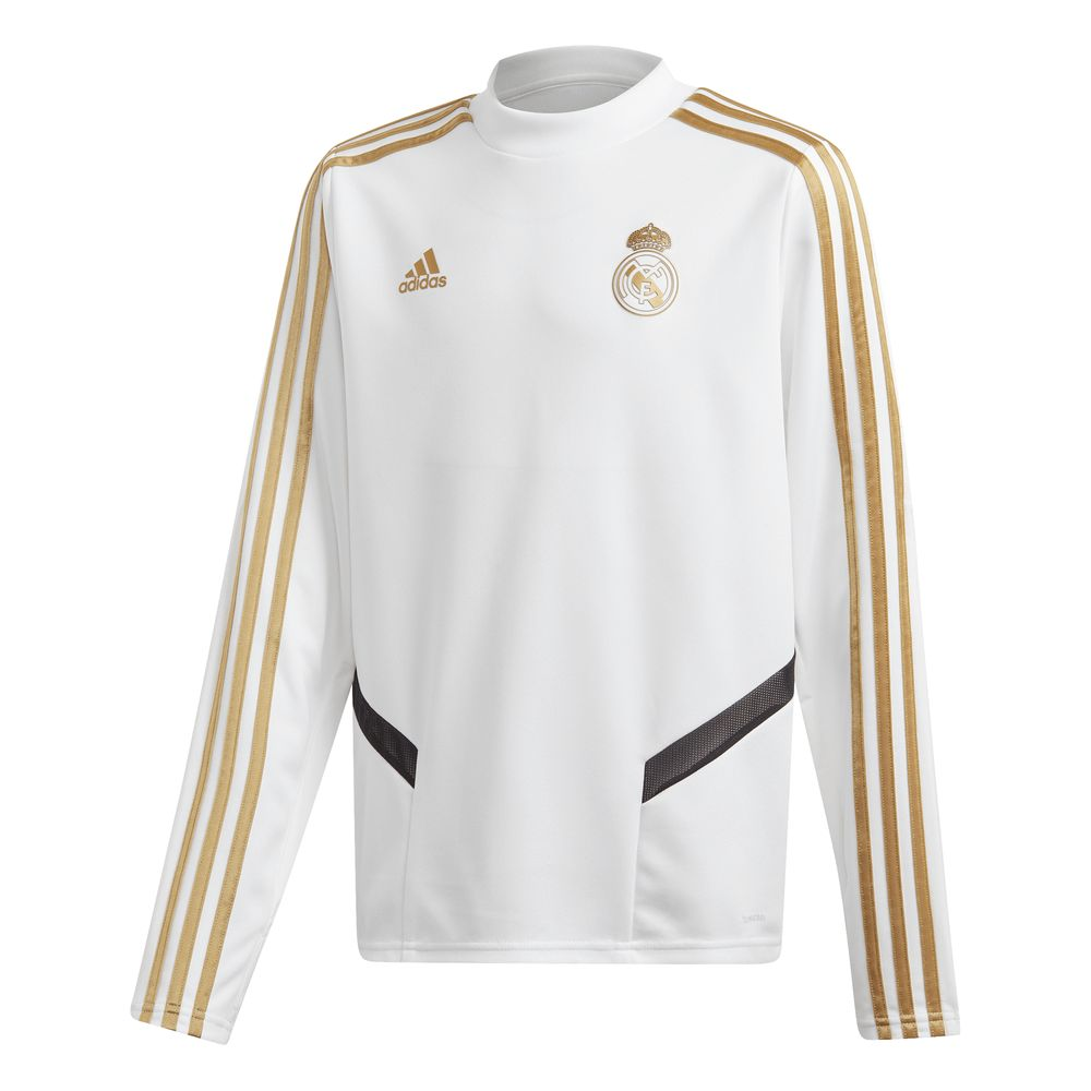 adidas Real Madrid Trainingstrui 2019-2020 Kids Wit Goud
