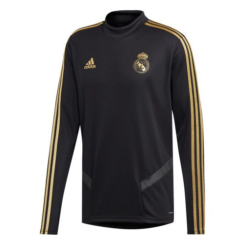 adidas Real Madrid Trainingstrui 2019-2020 Zwart Goud