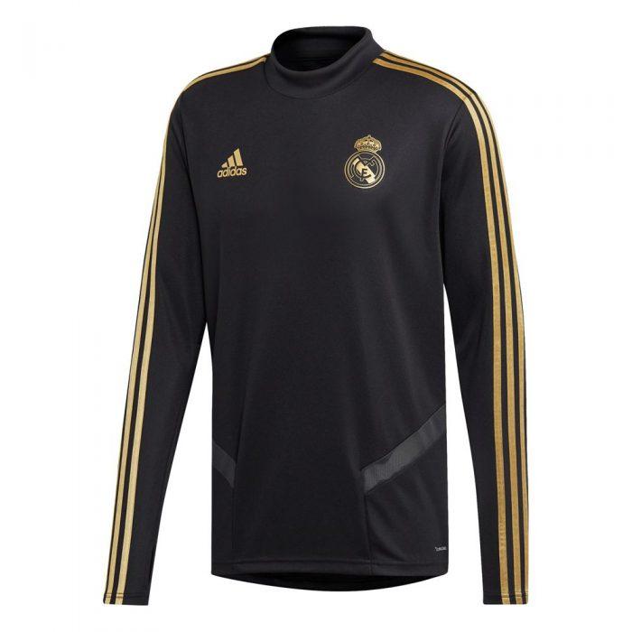 adidas Real Madrid Trainingstrui 2019-2020 Zwart Goud
