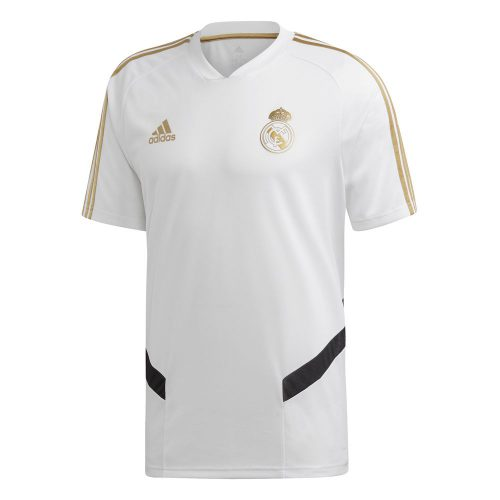 adidas Real Madrid Trainingsshirt 2019-2020 Wit Goud