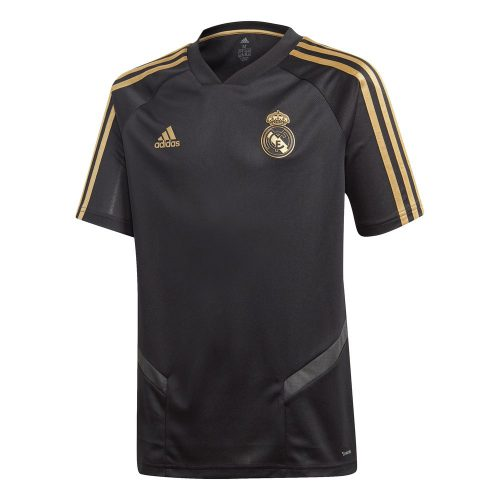 adidas Real Madrid Trainingsshirt 2019-2020 Kids Zwart Goud