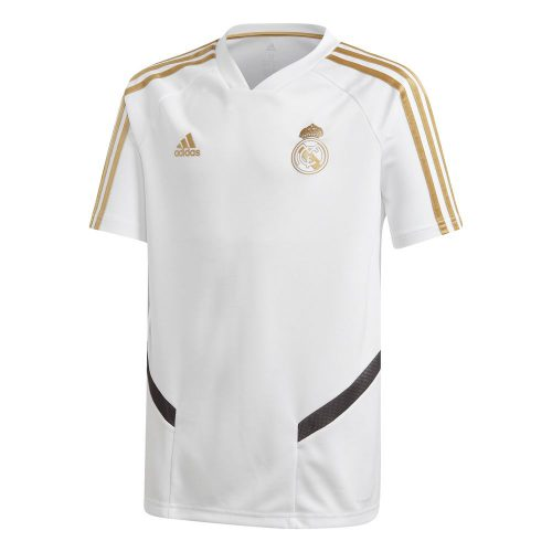 adidas Real Madrid Trainingsshirt 2019-2020 Kids Wit Goud