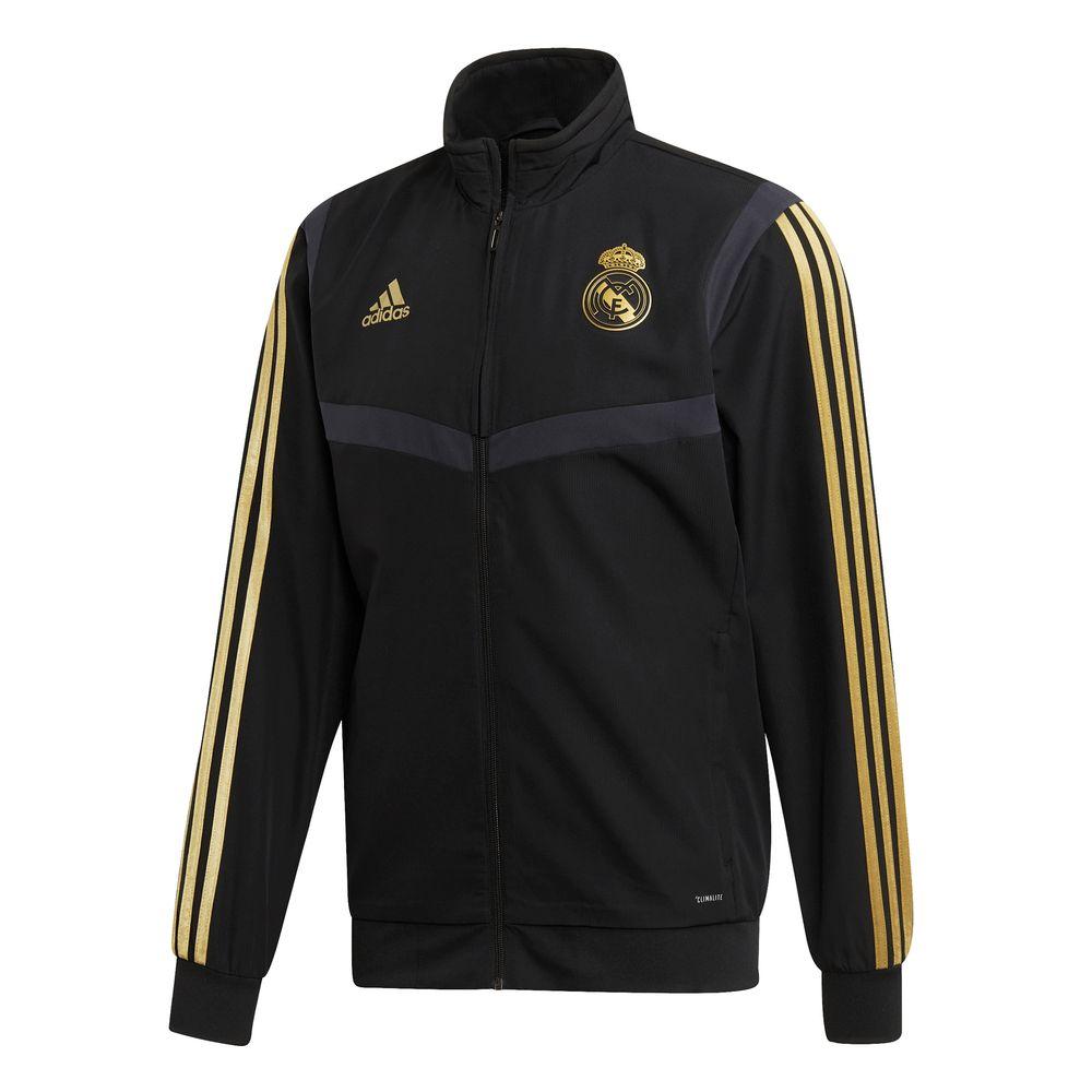 adidas Real Madrid Presentatie Trainingsjack 2019-2020 Zwart Goud