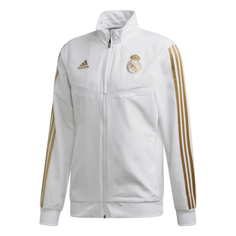 adidas Real Madrid Presentatie Trainingsjack 2019-2020 Wit Goud