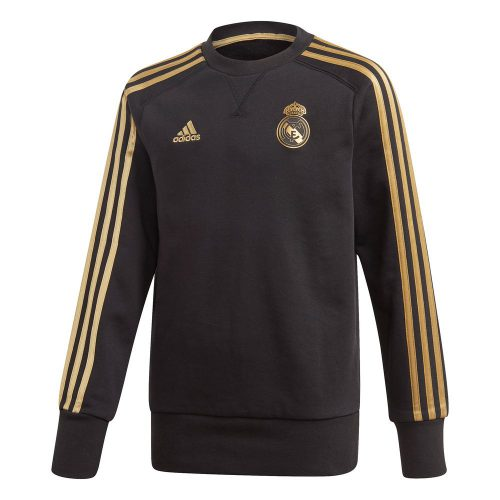 adidas Real Madrid Sweat Trainingstrui 2019-2020 Kids Zwart Goud