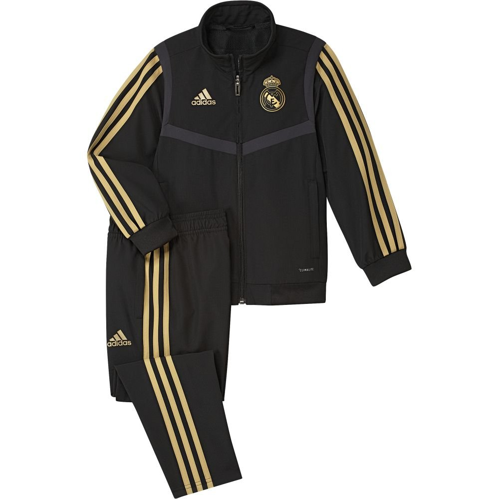 adidas Real Madrid Presentatie Trainingspak 2019-2020 Peuters Zwart Goud