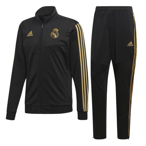 adidas Real Madrid Trainingspak 2019-2020 Zwart Goud