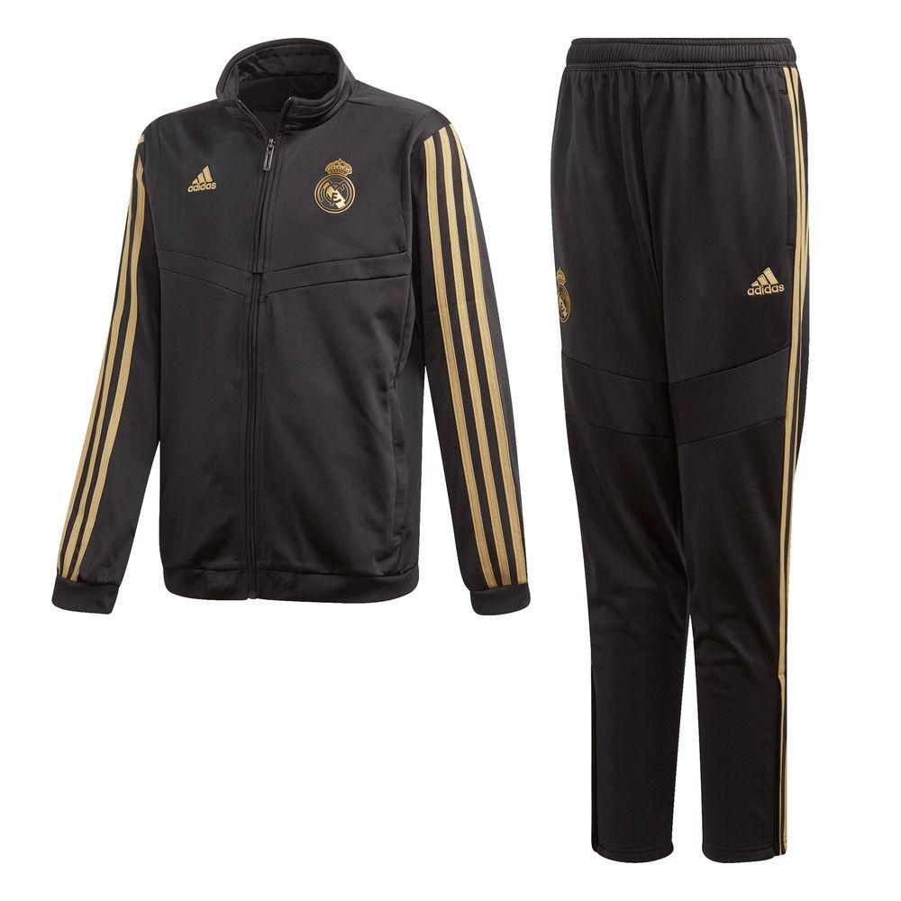adidas Real Madrid Trainingspak 2019-2020 Kids Zwart Goud