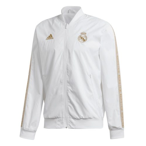 adidas Real Madrid Anthem Trainingsjack 2019-2020 Wit Goud