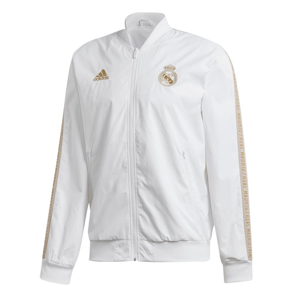 adidas Real Madrid Anthem Trainingsjack 2019-2020 Wit Goud