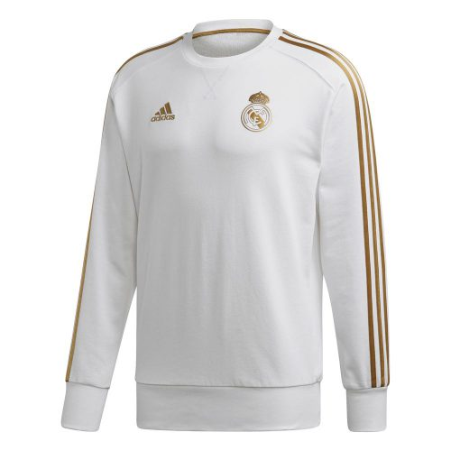 adidas Real Madrid Sweat Trainingstrui 2019-2020 Wit Goud