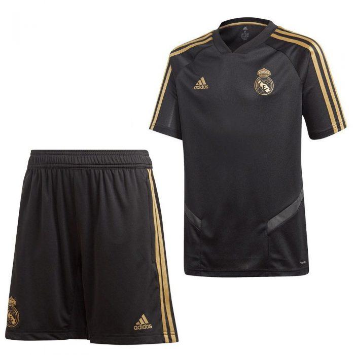 adidas Real Madrid Trainingsset 2019-2020 Zwart Kids