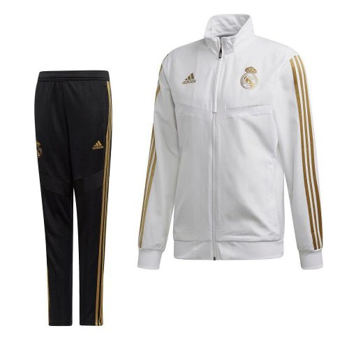 adidas Real Madrid Presentatie Trainingspak 2019-2020 Wit Goud