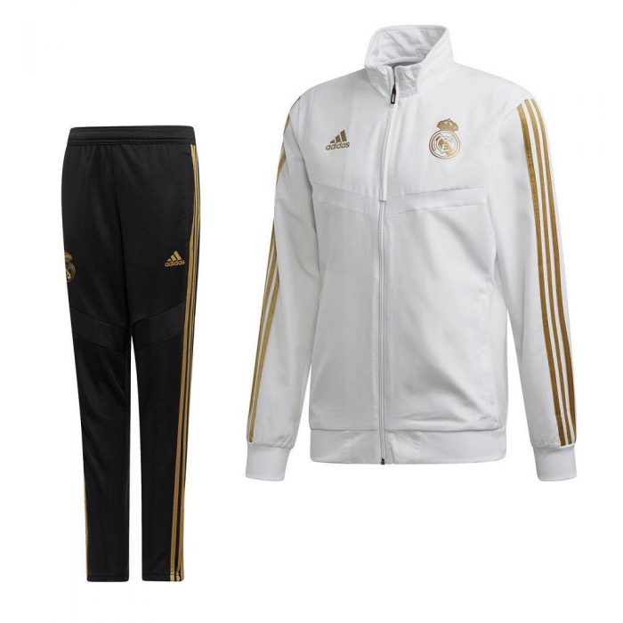 adidas Real Madrid Presentatie Trainingspak 2019-2020 Wit Goud