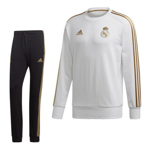 adidas Real Madrid Sweat Trainingspak 2019-2020 Wit Goud