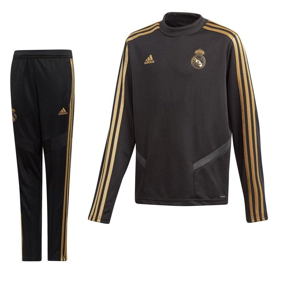 adidas Real Madrid Top Trainingspak 2019-2020 Kids Zwart Goud