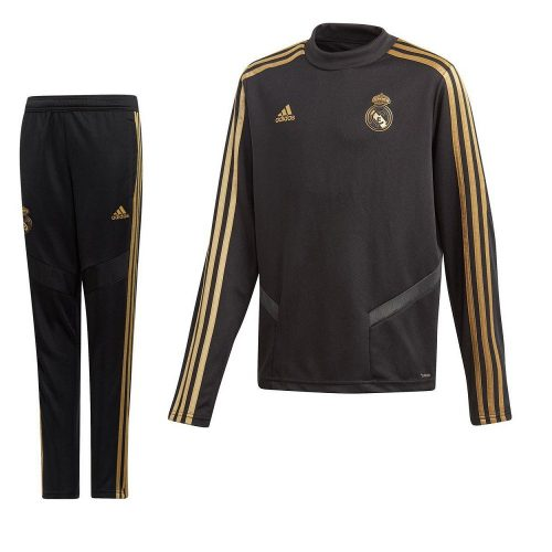 adidas Real Madrid Top Trainingspak 2019-2020 Zwart Goud