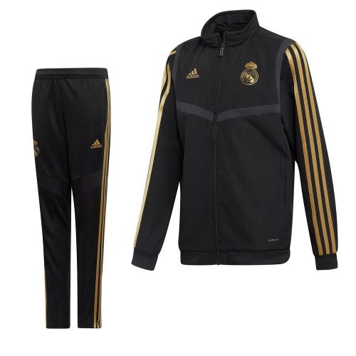 adidas Real Madrid Presentatie Trainingspak 2019-2020 Kids Zwart Goud