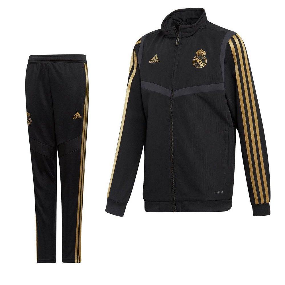 adidas Real Madrid Presentatie Trainingspak 2019-2020 Kids Zwart Goud