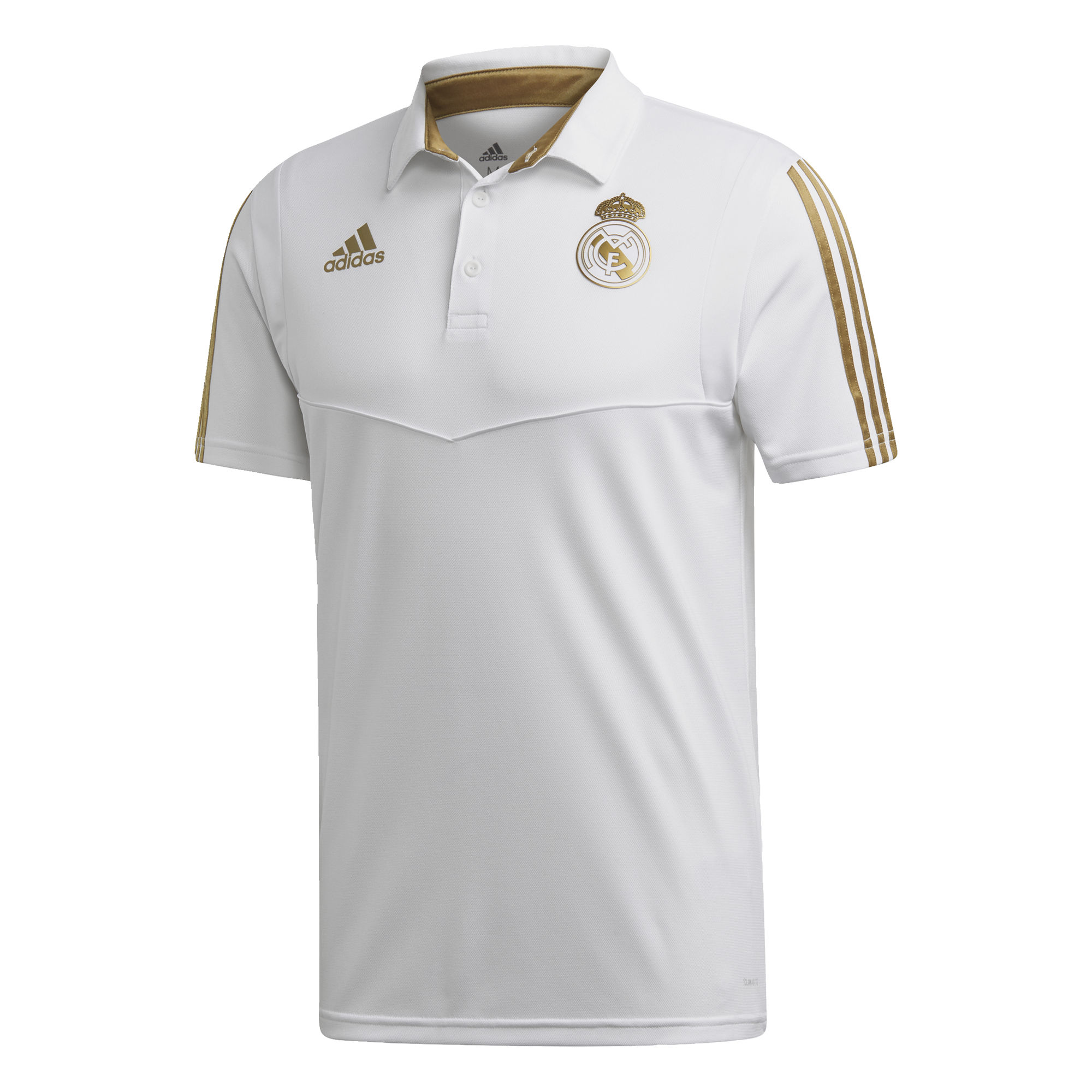 adidas Real Madrid Polo 2019-2020 Wit Goud
