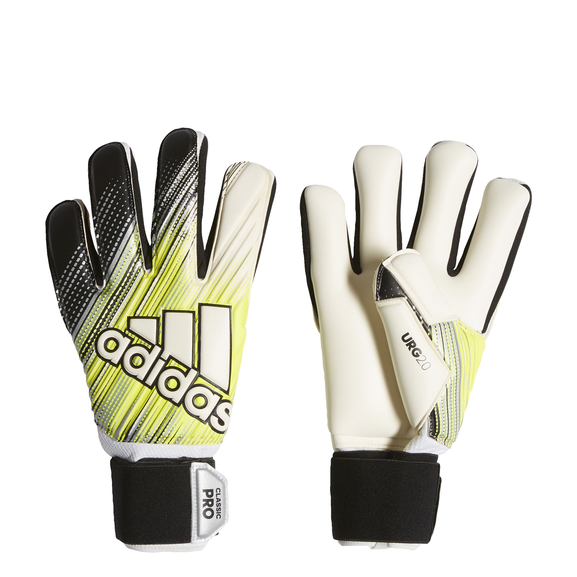 adidas CLASSIC PRO Keepershandschoenen Zwart Geel