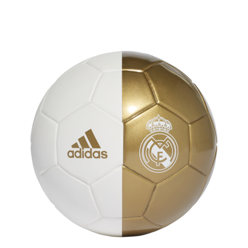 adidas Real Madrid Mini Voetbal Wit Goud