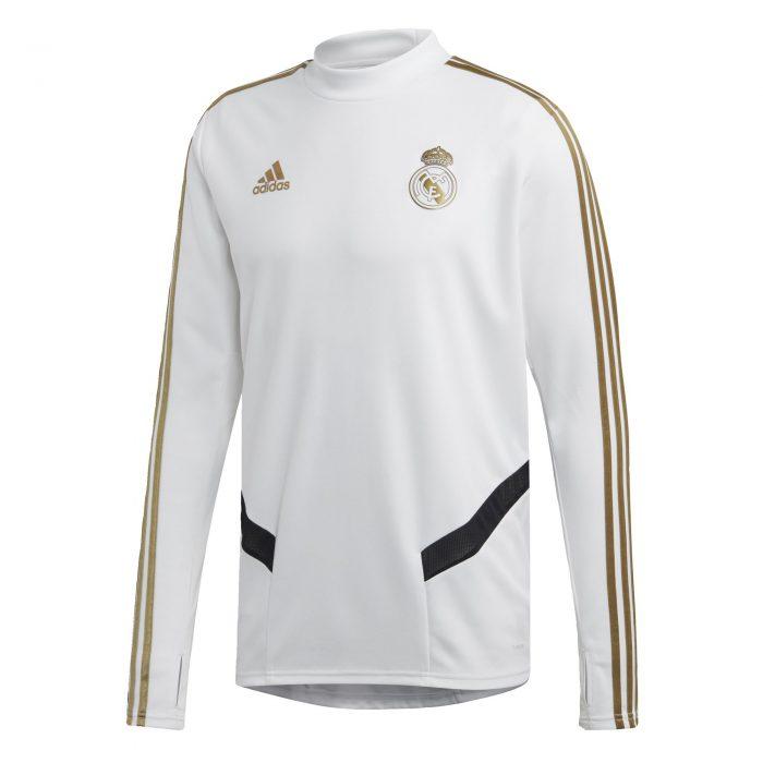adidas Real Madrid Trainingstrui 2019-2020 Wit Goud