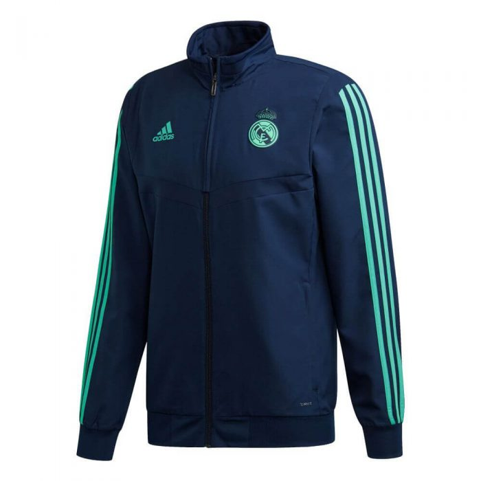 adidas Real Madrid Champions League Presentatie Trainingsjack 2019-2020 Donkerblauw