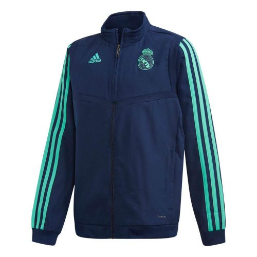 adidas Real Madrid Champions League Presentatie Trainingsjack 2019-2020 Kids Donkerblauw