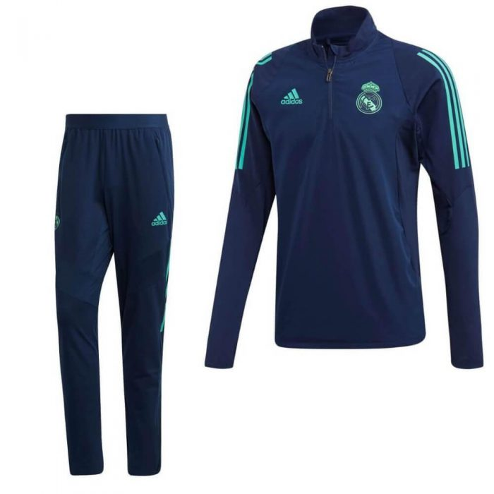 adidas Real Madrid Top Trainingspak Champions League 2019-2020 Blauw Groen