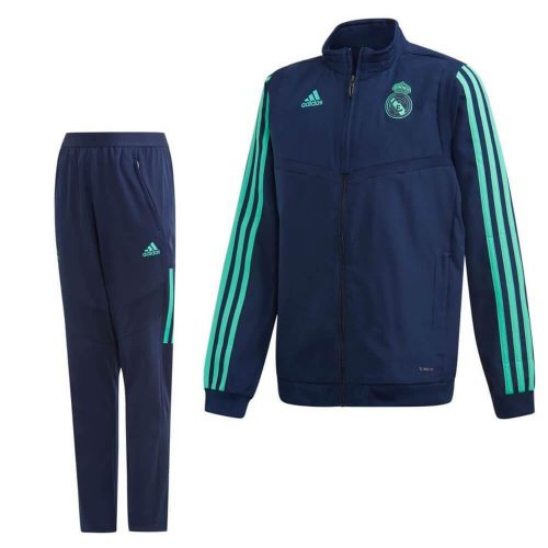 adidas Real Madrid Presentatie Trainingspak Champions League 2019-2020 Kids Blauw Groen