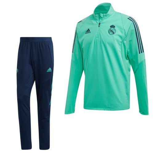 adidas Real Madrid Trainingspak Champions League 2019-2020 Groen Blauw