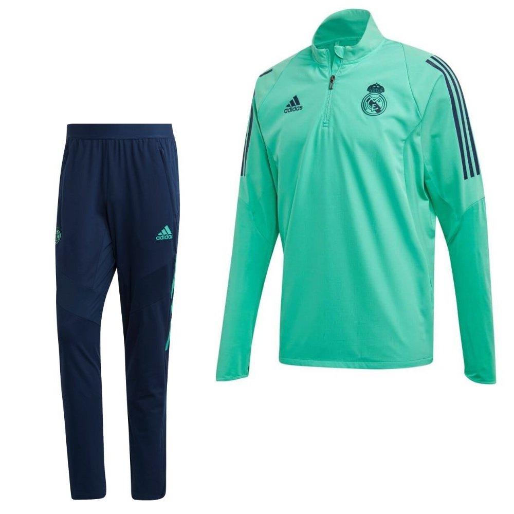 adidas Real Madrid Trainingspak Champions League 2019-2020 Groen Blauw