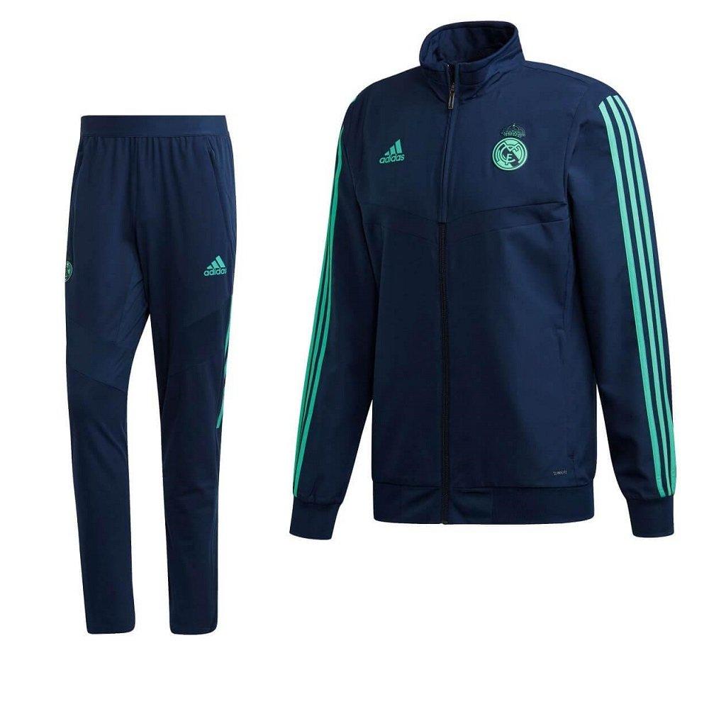 adidas Real Madrid Presentatie Trainingspak Champions League 2019-2020 Blauw Groen