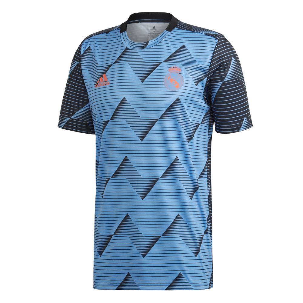 adidas Real Madrid Pre Match Trainingsshirt 2019-2020 Blauw Zwart
