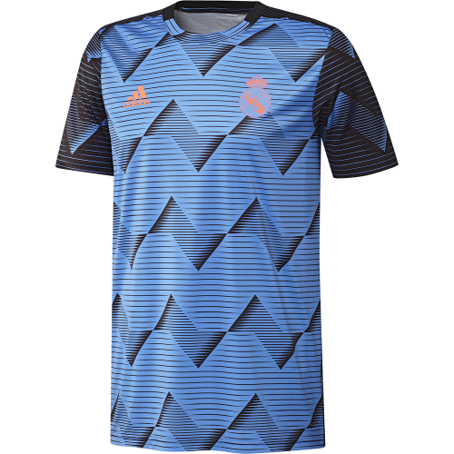 adidas Real Madrid Pre Match Trainingsshirt 2019-2020 Kids Blauw Zwart