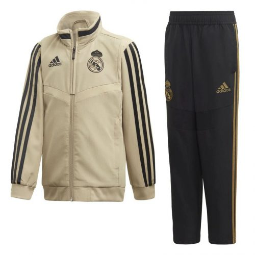 adidas Real Madrid Presentatie Trainingspak 2019-2020 Kids Goud Zwart